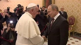 Elkésett a római pápától Putyin