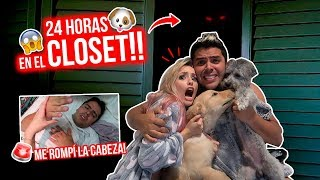 24 HORAS ENCERRADOS en CLOSET con OSO, CACHITO Y PRINCESA 🐶 Final Traumático!😱