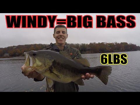 NJ Bass Fishing POURING RAIN (6+lbs)