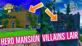 Land at a run down Hero Mansion and an abandoned Villain Lair Fortnite! Blockbuster Missions!