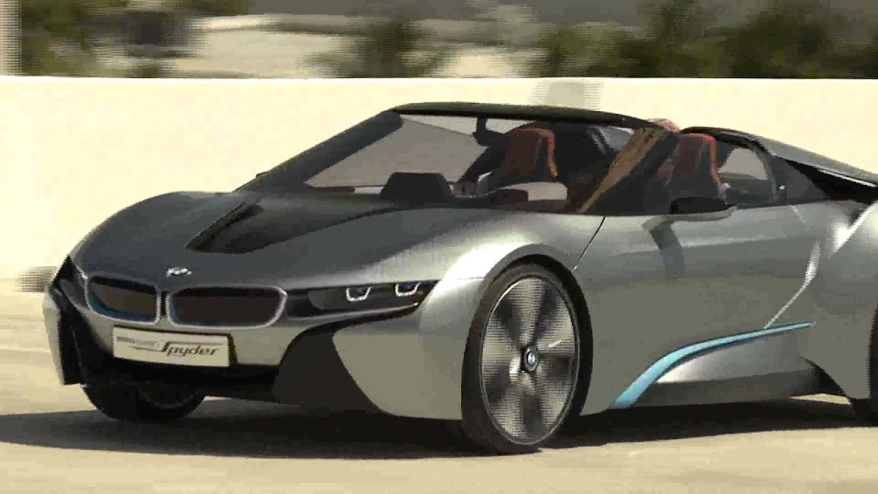 Bmw I8 Spyder Concept Hd Driving Video With Electric Engine Sound