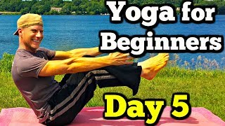 Day 5 - Yoga Abs and Core - 7 Day Beginner Yoga Challenge #7dayyogachallenge