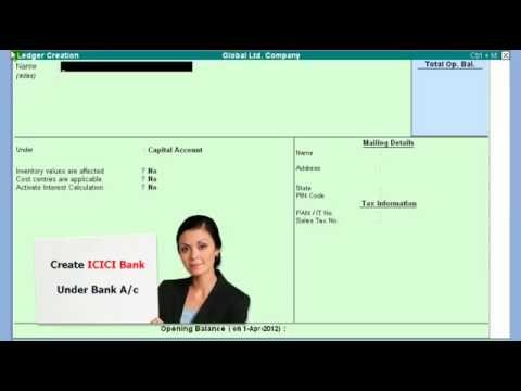 Tally 6  Bank Ledger under Bank Account Group