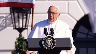 """We Are Living at a Critical Moment of History"": The Pope on Poverty, Immigration & Climate Change"
