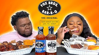 BBQ SPARE RIBS RIBS, PULLED PORK, AND BRISKET FROM FOX BROS BBQ, ATL!! | MUKBANG EATING SHOW