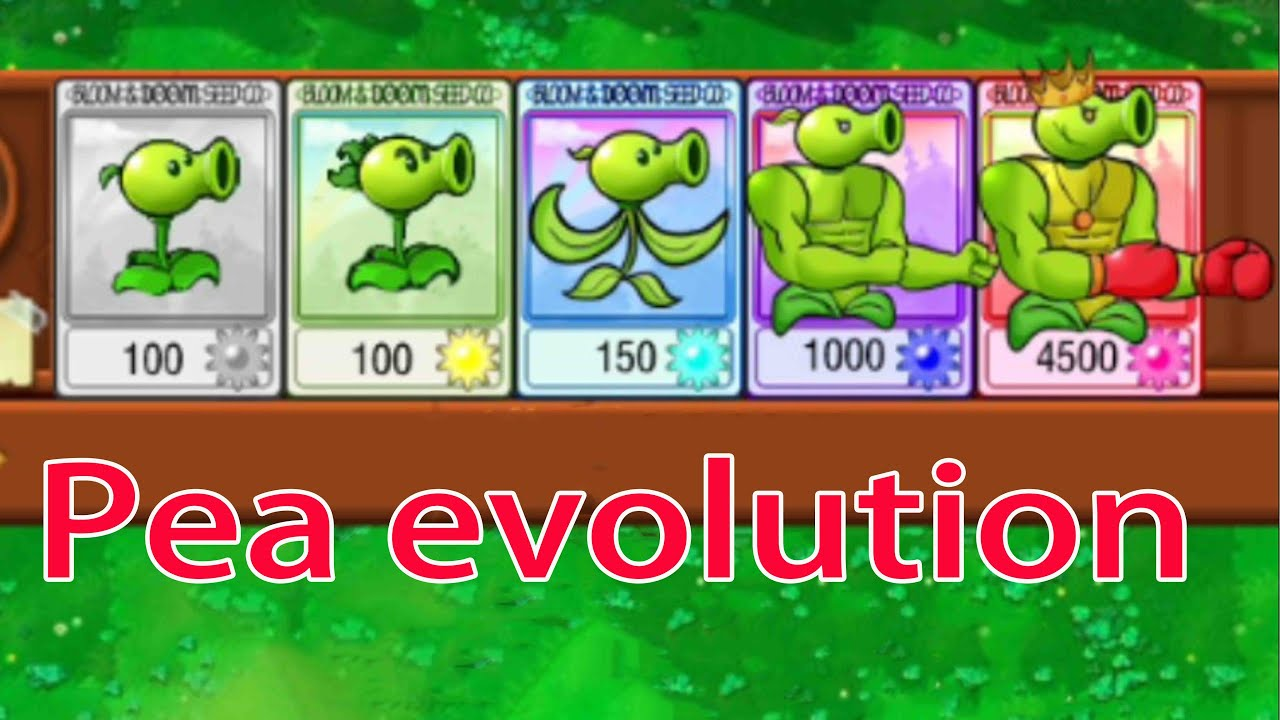Download Plants Vs. Zombies evolutionary journey of the pea family- HARD MODE MOD