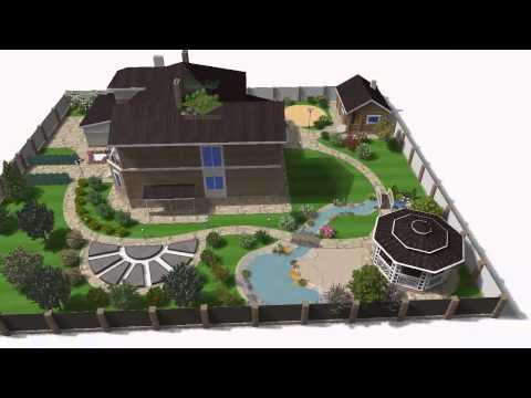 "Компьютерная программа ""Наш Сад"": Видео презентация 3D ландшафтного проекта"