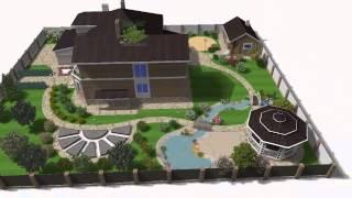 Компьютерная программа ''Наш Сад'': Видео презентация 3D ландшафтного проекта
