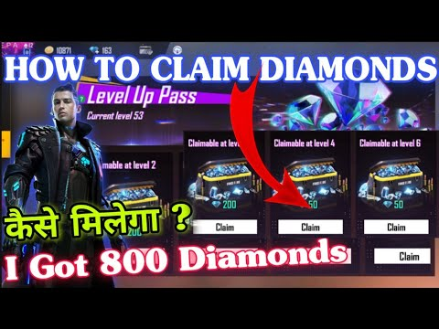 HOW TO CLAIM 800 DIAMONDS IN LEVEL UP PASS TOP UP EVENT | Free Fire Level Up Pass Full Details |