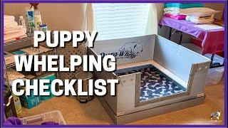 Puppy Whelping Checklist
