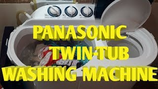 PANASONIC TWIN-TUB WASHING MACHINE IN THE PHILIPPINES/ UNBOXING AND REVIEW//QB VLOGS