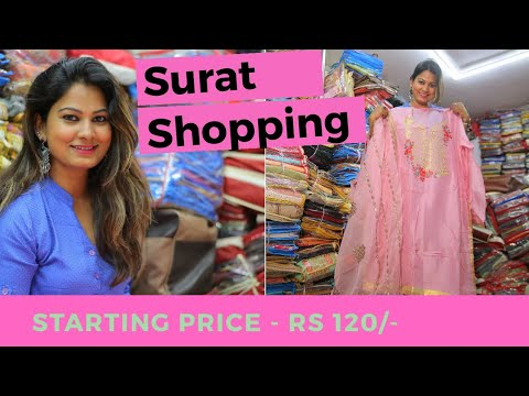Surat Wholesale Market Dress Materials Shops For Business Shopping In India Youtube
