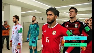 Wales vs Spain | Full Match & All Goals 2018 | PES 2018 Gameplay HD