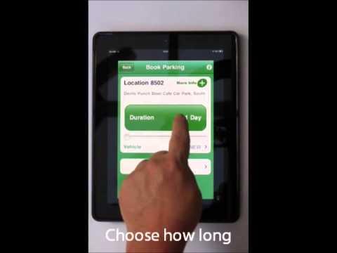 RingGo cashless parking via an Apple iPad