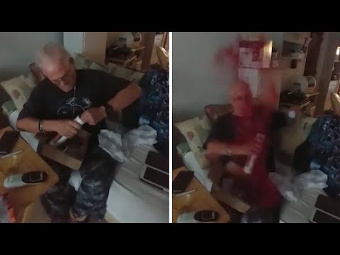 Son Pranks Dad With Glitter Bomb Mail