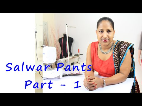 Class 20 - Part 1 Theory - How to make salwar pants / cutting and stitching / neat and easy method
