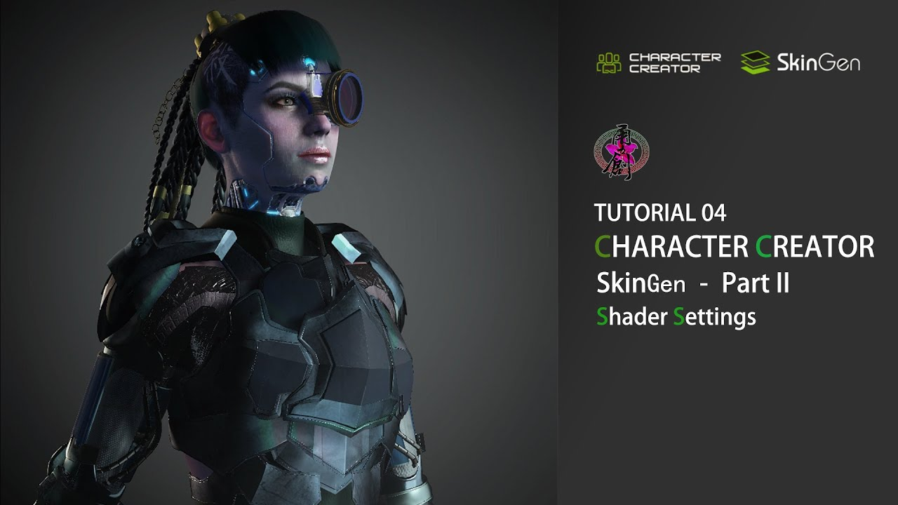 SkinGen Tutorial for Character Creator 3 - Part 2 Shader Settings