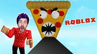 Roblox: ENTKOMME VOR DER VERRÜCKTEN PIZZA! SUCUK PIZZA FRISST KAAN! Escape Pizza Obby