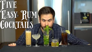 The 5 Easiest RUM Cocktails to Make at Home