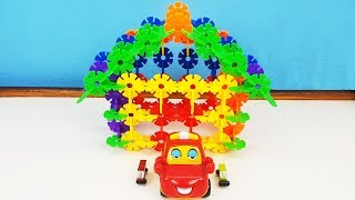 How To Make A Beautiful House *Lovely Diy Blocks Build House For Kids *Learn Colors Toys For Kids