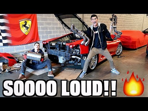 F430 Muffler Delete Straight Pipe! Insane Sound!!
