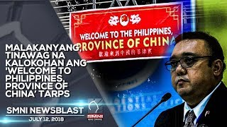 MALAKANYANG, TINAWAG NA KALOKOHAN ANG 'WELCOME TO PHILIPPINES, PROVINCE OF CHINA' TARPS