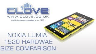 Nokia Lumia 1520 Hardware Size Comparison