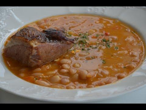 Grah sa Suhim Rebrima Bean Soup with Smoked Ribs - Sašina kuhinja