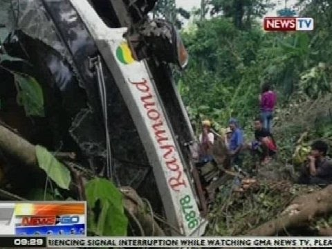 NTG: Bus, nahulog sa bangin sa Pagbilao, Quezon