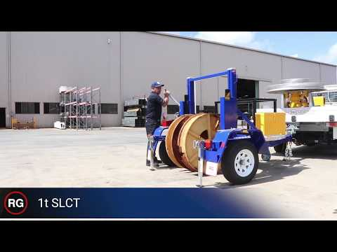 1t Self Loading Cable Trailer - Demonstration