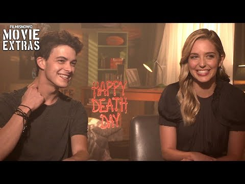 Happy Death Day 2017 Jessica Rothe & Israel Broussard talk about their experience making the movie