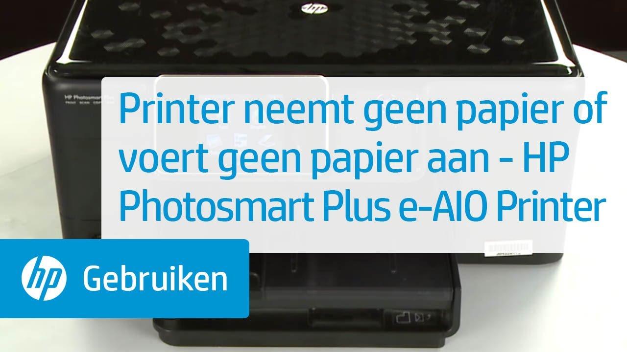 printer neemt geen papier of voert geen papier aan hp photosmart plus e all in one printer. Black Bedroom Furniture Sets. Home Design Ideas