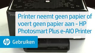 Printer neemt geen papier of voert geen papier aan - HP Photosmart Plus e-All-in-One Printer - B210a