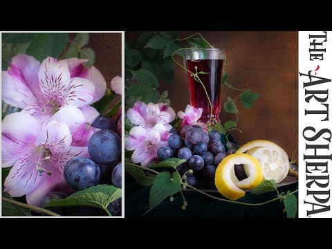 How To Paint Alstroemeria Flowers In A Still Life With