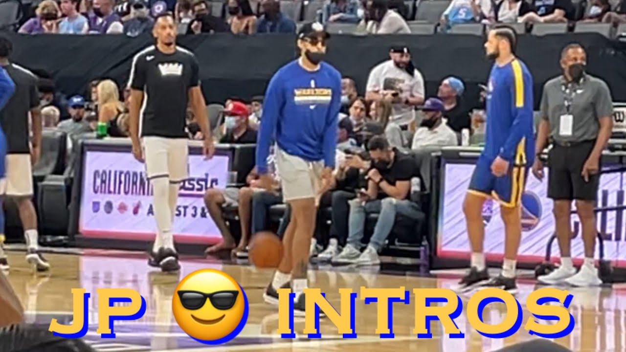 📺 Jordan Poole wears sunglasses to Warriors warmups 😎😂 Justinian Jessup a starter in intros
