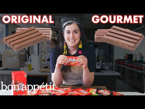 Pastry Chef Attempts To Make Gourmet Kit Kats | Gourmet Makes | Bon Apptit