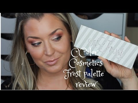 CCOLOR COSMETICS FROST PALETTE REVIEW AND TUTORIAL | HOT MESS MOMMA MD