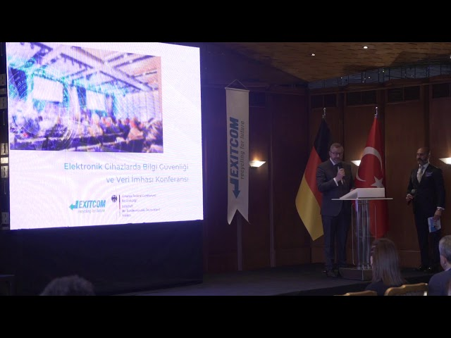 Exitcom Recycling Bilgi Güvenliği ve Veri İmha Konferansı - Friedo SIELEMANN
