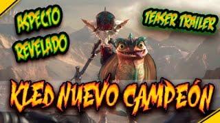 KLED: Nuevo CAMPEÓN, aspecto REVELADO | Noticias League Of Legends