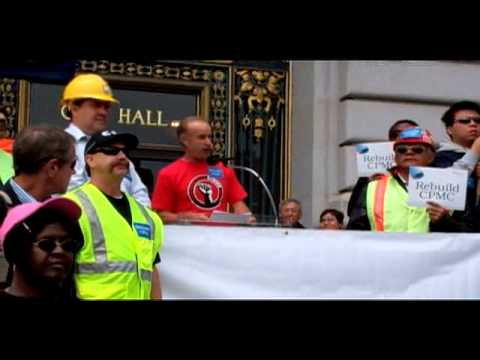 San Francisco CPMC Hospital Protest At City Hall -  Mayor's Office Absent