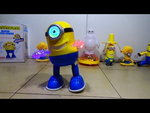 Dancing Minion Toy W/ Flashing Lights! Amazing Battery Operated Light Up Toy!