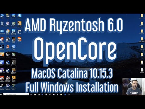 AMD Ryzentosh OpenCore MacOS 10.15.3 Windows Full Installation Guide (Ryzentosh 6.0)