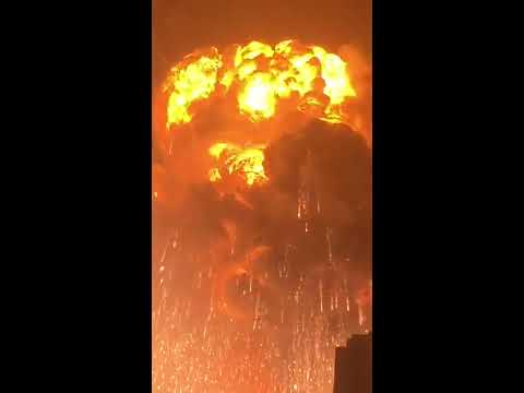 Tianjin Explosion video - 720p portrait crop for mobile viewing