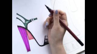 How to Draw Sandals with Shoe Design Book