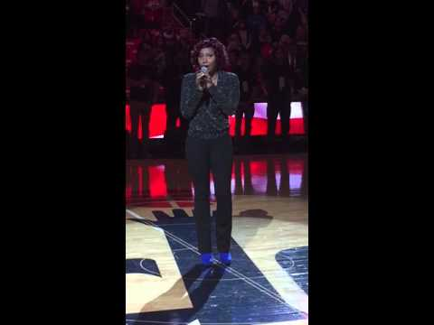 Traci Braxton Sings The National Anthem