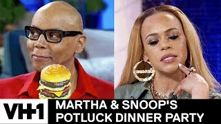 RuPaul & Faith Evans on 🍆Size & Places to Have Sex 'Sneak' | Martha & Snoop's Potluck Dinner Party