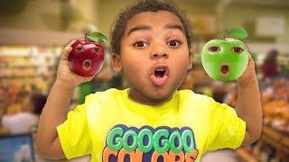GOO GOO GAGA MAGIC FRUIT COMPILATION! Learn the Names, Colors, & Spelling of Fruit!