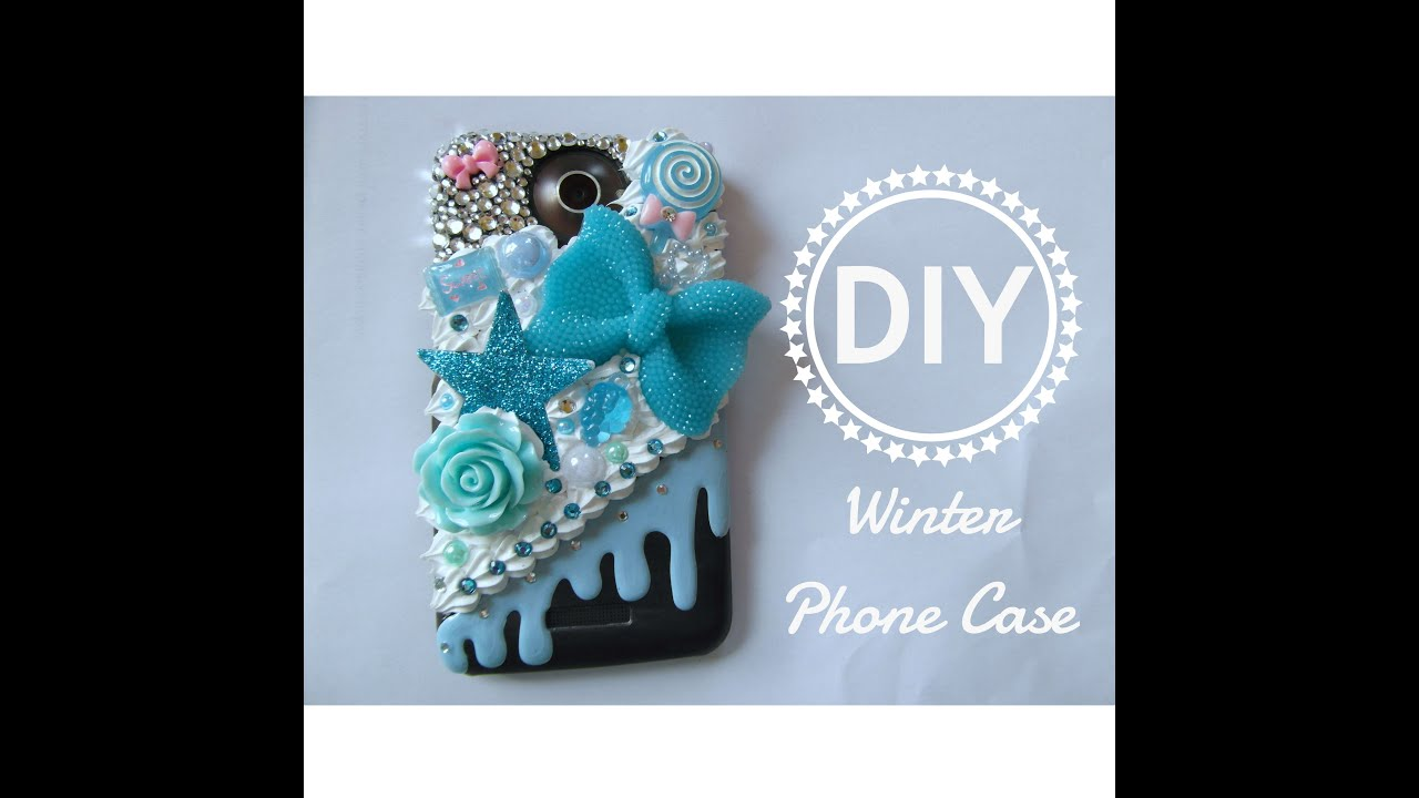 DIY Winter Phone Case / Decoden / Bling - YouTube