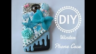 DIY Winter Phone Case / Decoden / Bling