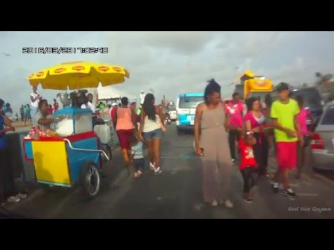 Easter Monday at Georgetown,Guyana Seawall (HD)